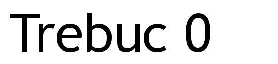 Шрифт Trebuc 0
