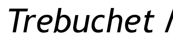 Trebuchet MS Курсив Font