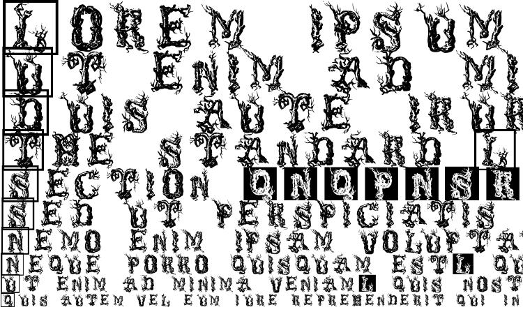 specimens TreeLike font, sample TreeLike font, an example of writing TreeLike font, review TreeLike font, preview TreeLike font, TreeLike font