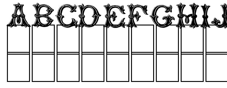 glyphs TrefoilCapitals font, сharacters TrefoilCapitals font, symbols TrefoilCapitals font, character map TrefoilCapitals font, preview TrefoilCapitals font, abc TrefoilCapitals font, TrefoilCapitals font