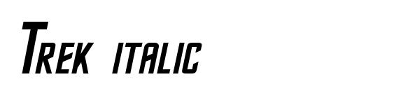 Trek italic Font