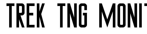 Trek tng monitors Font