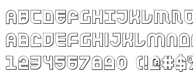 глифы шрифта Trek Trooper 3D, символы шрифта Trek Trooper 3D, символьная карта шрифта Trek Trooper 3D, предварительный просмотр шрифта Trek Trooper 3D, алфавит шрифта Trek Trooper 3D, шрифт Trek Trooper 3D