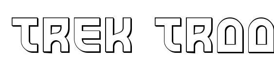 Trek Trooper 3D Font