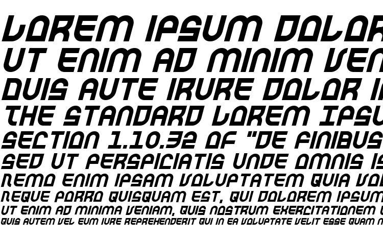 specimens Trek Trooper Italic font, sample Trek Trooper Italic font, an example of writing Trek Trooper Italic font, review Trek Trooper Italic font, preview Trek Trooper Italic font, Trek Trooper Italic font