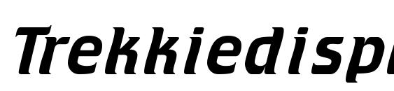 шрифт Trekkiedisplayssk, бесплатный шрифт Trekkiedisplayssk, предварительный просмотр шрифта Trekkiedisplayssk