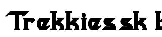 Шрифт Trekkiessk bold