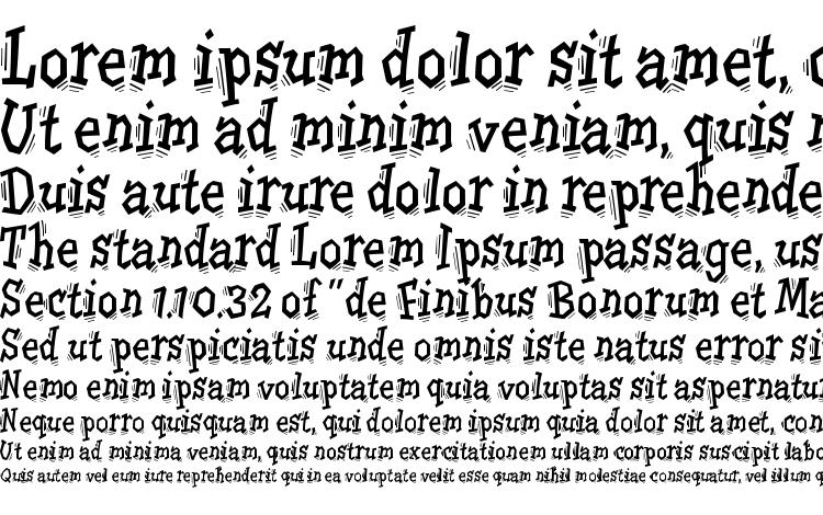specimens TremorITC TT font, sample TremorITC TT font, an example of writing TremorITC TT font, review TremorITC TT font, preview TremorITC TT font, TremorITC TT font