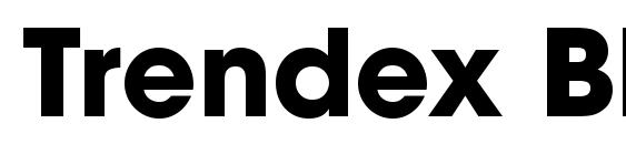 Шрифт Trendex Black SSi Bold