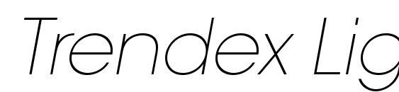 Шрифт Trendex Light SSi Extra Light Italic