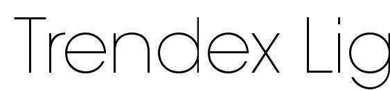 Trendex Light SSi Extra Light Font