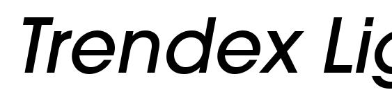 Шрифт Trendex Light SSi Medium Italic