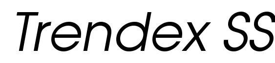 Шрифт Trendex SSi Italic