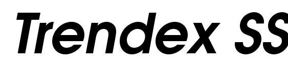 Trendex SSi Semi Bold Italic Font