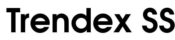 Шрифт Trendex SSi Semi Bold
