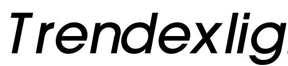 Шрифт Trendexlightssk bold italic