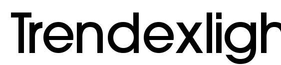 Шрифт Trendexlightssk bold