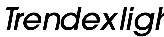 Шрифт Trendexlightssk bolditalic
