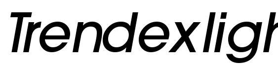 Trendexlightssk bolditalic Font