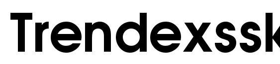 Шрифт Trendexssk bold