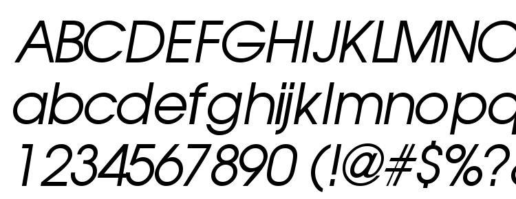 глифы шрифта Trendexssk italic, символы шрифта Trendexssk italic, символьная карта шрифта Trendexssk italic, предварительный просмотр шрифта Trendexssk italic, алфавит шрифта Trendexssk italic, шрифт Trendexssk italic