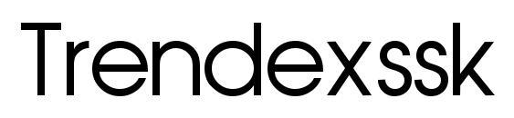 Trendexssk regular Font