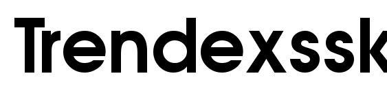шрифт Trendexssk semibold, бесплатный шрифт Trendexssk semibold, предварительный просмотр шрифта Trendexssk semibold