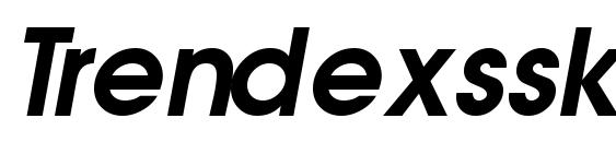 Trendexssk semibolditalic Font