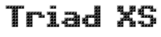 Шрифт Triad XS