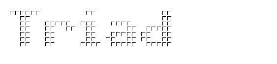 Шрифт Triad