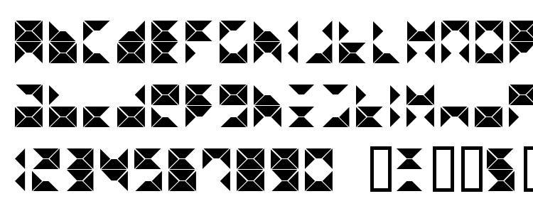 глифы шрифта Triangel, символы шрифта Triangel, символьная карта шрифта Triangel, предварительный просмотр шрифта Triangel, алфавит шрифта Triangel, шрифт Triangel