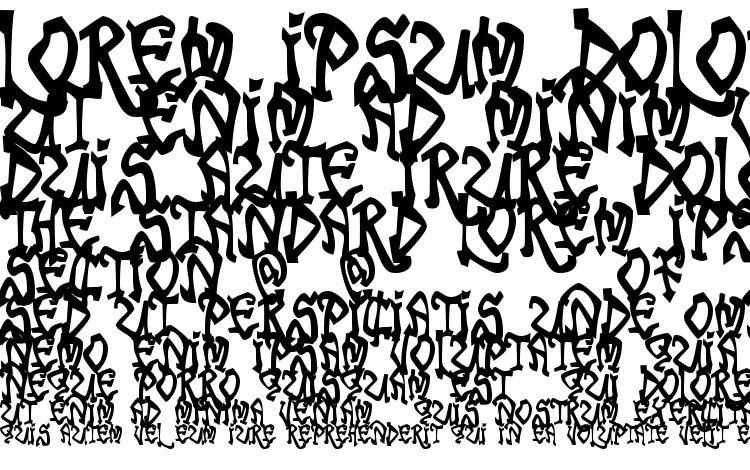 specimens Tribal Funk font, sample Tribal Funk font, an example of writing Tribal Funk font, review Tribal Funk font, preview Tribal Funk font, Tribal Funk font