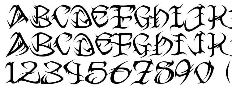 глифы шрифта Tribal, символы шрифта Tribal, символьная карта шрифта Tribal, предварительный просмотр шрифта Tribal, алфавит шрифта Tribal, шрифт Tribal
