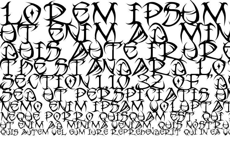 образцы шрифта Tribal, образец шрифта Tribal, пример написания шрифта Tribal, просмотр шрифта Tribal, предосмотр шрифта Tribal, шрифт Tribal