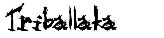Шрифт Triballaka