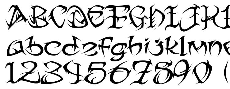glyphs Tribtwo font, сharacters Tribtwo font, symbols Tribtwo font, character map Tribtwo font, preview Tribtwo font, abc Tribtwo font, Tribtwo font
