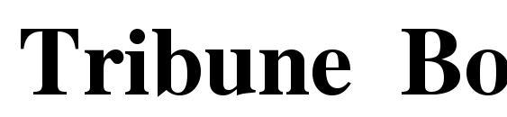Tribune Bold Font