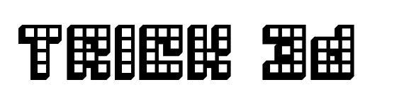 Шрифт Trick 3d