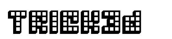Шрифт Trick3d
