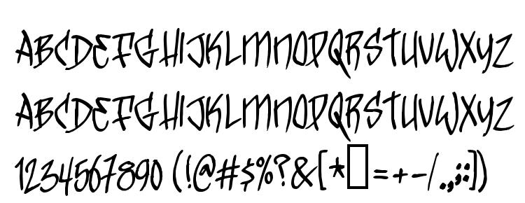 глифы шрифта TrickTag, символы шрифта TrickTag, символьная карта шрифта TrickTag, предварительный просмотр шрифта TrickTag, алфавит шрифта TrickTag, шрифт TrickTag
