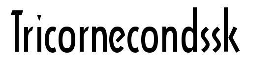 Шрифт Tricornecondssk