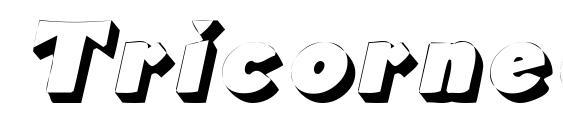 шрифт Tricorneoutlinessk italic, бесплатный шрифт Tricorneoutlinessk italic, предварительный просмотр шрифта Tricorneoutlinessk italic