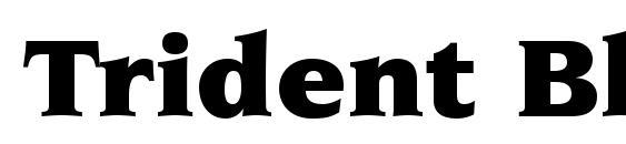 Шрифт Trident Black SSi Black