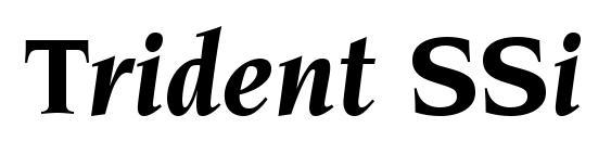 Шрифт Trident SSi Bold Italic