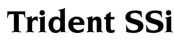 Шрифт Trident SSi Bold