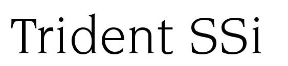 Шрифт Trident SSi