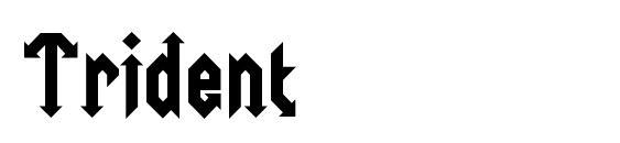 шрифт Trident, бесплатный шрифт Trident, предварительный просмотр шрифта Trident