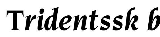 шрифт Tridentssk bold italic, бесплатный шрифт Tridentssk bold italic, предварительный просмотр шрифта Tridentssk bold italic
