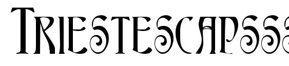 шрифт Triestescapsssk bold, бесплатный шрифт Triestescapsssk bold, предварительный просмотр шрифта Triestescapsssk bold