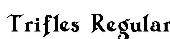Шрифт Trifles Regular